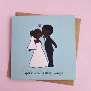 Gefeliciteerd met jullie trouwdag - optie 2