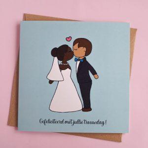 Gefeliciteerd met jullie trouwdag - optie 3